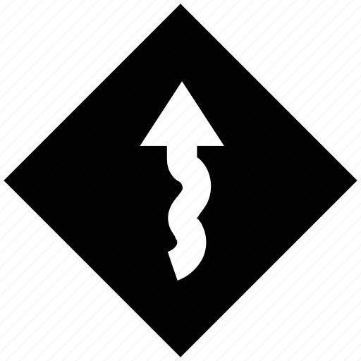 sign, warning, warning sign, zigzag, zigzag road icon