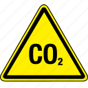 co2, hazard icon