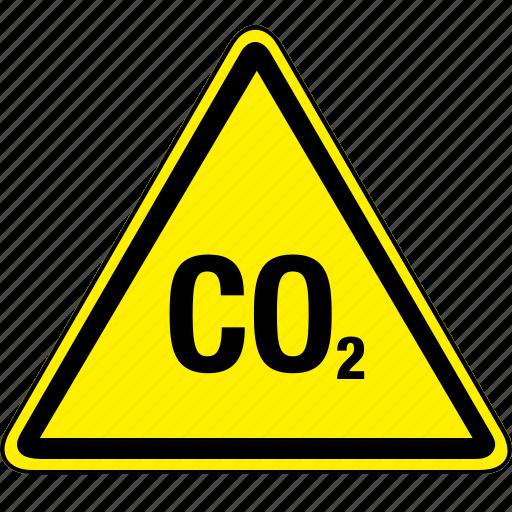 co2, hazard icon