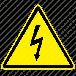 high, high voltage, voltage icon