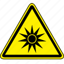optical, optical radiation, radiation icon