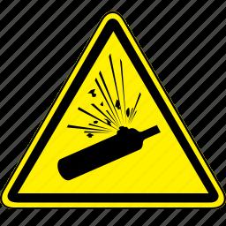 cylinder, pressurized, pressurized cylinder icon