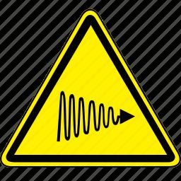 hazard, light, uv, uv light hazard icon