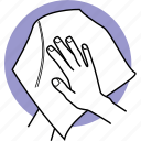 dry, drying, hand, hands, paper, tissue, towel icon