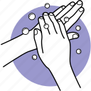 wash, clean, hands, soap, cleaning, back, washing icon