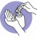 bottle, cleaning, hands, liquid, soap, wash, washing icon