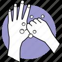 hands, finger, thumb, wash, washing icon
