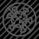coronavirus, covid-19, dangerous, prohibit, sign, stop, virus icon