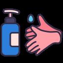 alcohol, coronavirus, covid, hands, soap, washing icon