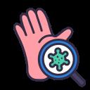 checking, coronavirus, covid, dirty, disease, hand icon