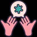coronavirus, covid, dirty, disease, hands, infect icon
