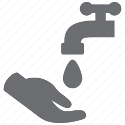 faucet, hand, spigot, wash, water icon