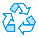 arrows, recycle, recycling, sign icon