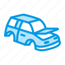 car, metal, part, recycling icon