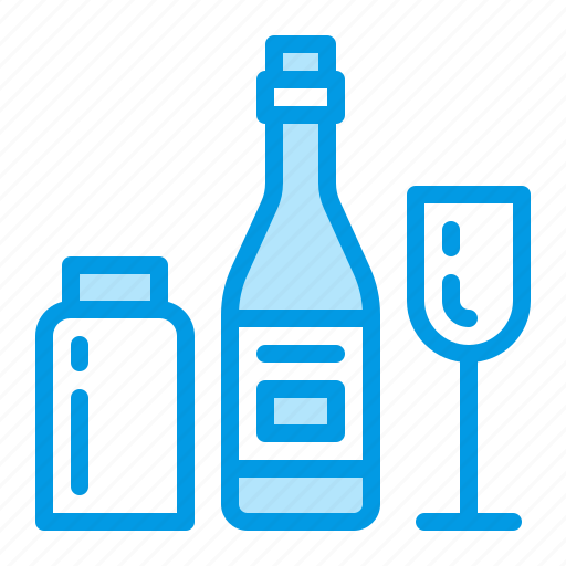 bottle, glass, recycling, waste icon