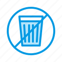 garbage, no, trash, waste icon
