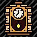 antique, classic, clock, vintage icon