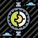 aviator, clock, fly, pilot, watch icon