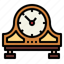 clock, minute, table, time, wood