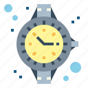 clock, diver, watch, water icon