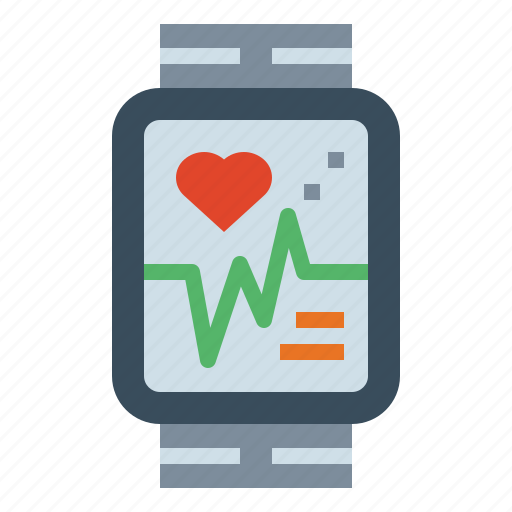 frequency, heart, medical, rate, smartwatch icon