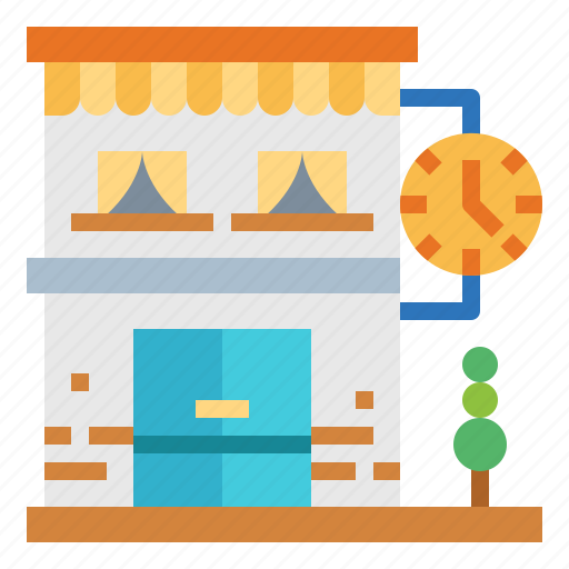 clock, commerce, shop, store icon