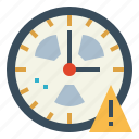 alert, clock, danger, warning icon