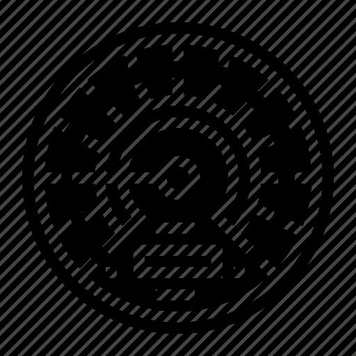 barometer, measuring, speedometer, temperature icon