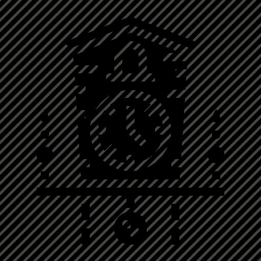Alarm, clock, craft, cuckoo, wood icon - Download on Iconfinder