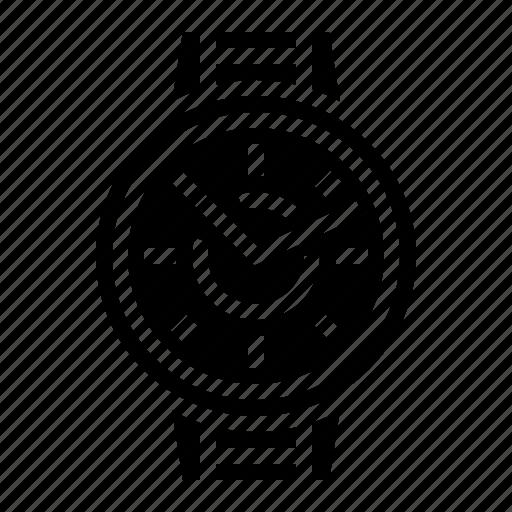 technology, time, watch, wrist icon