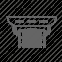 clamp, fasten, fastening, insert, size, strap icon