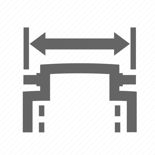 arrow, measurement, part, size, strap, watch, width icon