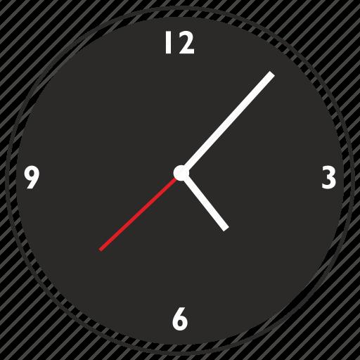 clocks, dark, watches icon