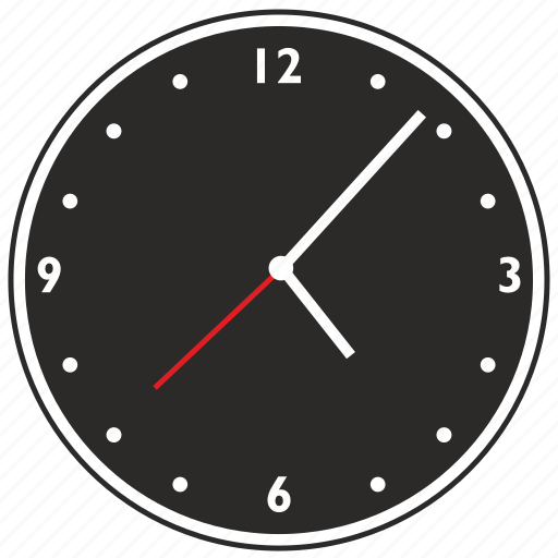 clocks, dots, watches icon