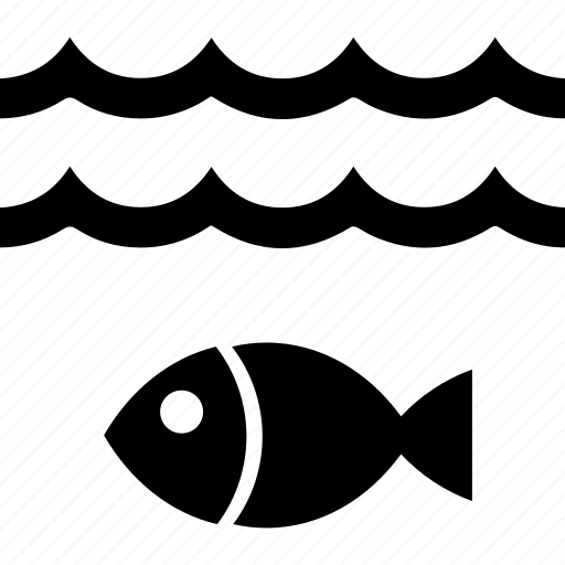 fish, fishing, tide, under water, water, wave, waves icon