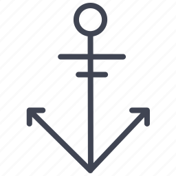 activities, anchor, boat, ship, water icon