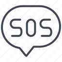activities, help, sos, support, water icon