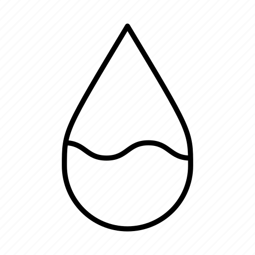 drink, half-full, liquid, water droplet, water levels, waves icon
