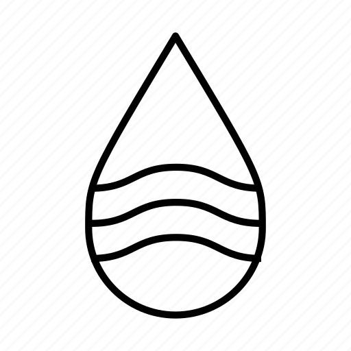drop, moisture, nature, pure, water droplet, waves, wet icon
