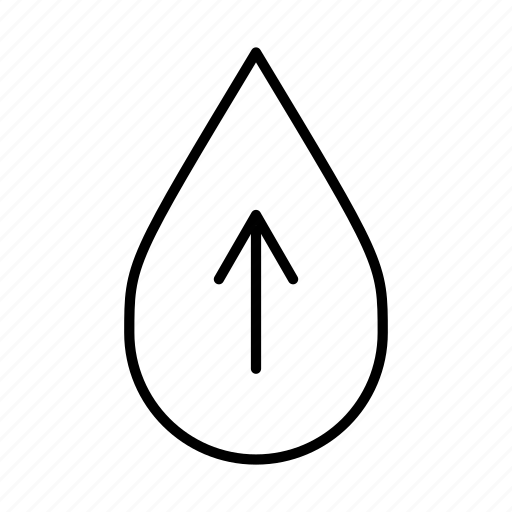 add water, more, up, up arrow, upload, water droplet icon