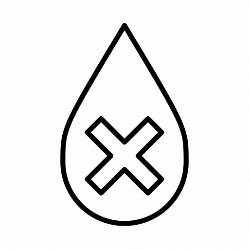 danger, dehydrated, no swimming, poison, toxic, warning, x icon