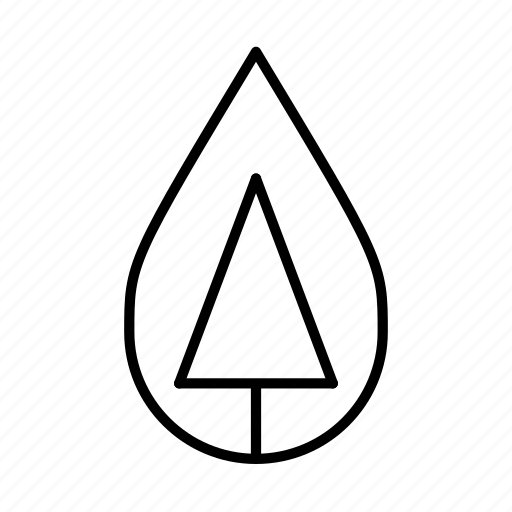 natural, nature, pine, tree, water droplet, woods icon
