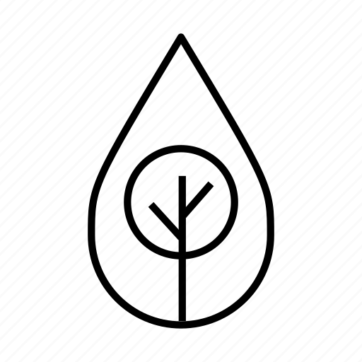 branches, clean, environment, go green, natural, tree, water droplet icon