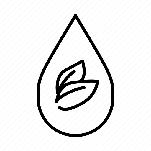 botanical, healthy, leaf, leaves, natural, pure, water droplet icon