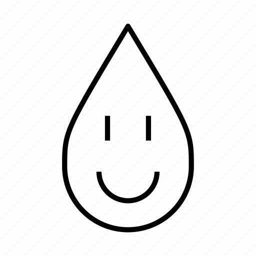 clean water, happy, happy face, healthy water, pure, smiley face, water droplet icon
