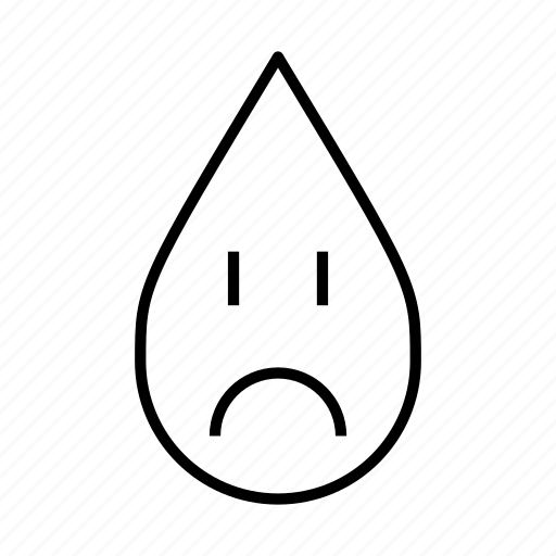climate change, sad, sad face, toxic, unhappy, water droplet icon