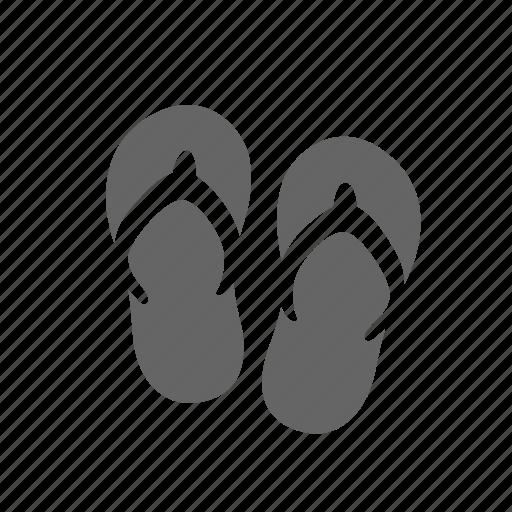 beach, flip, flops, rubber, shoes, summer icon