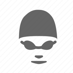 cap, competition, goggles, sport, swimmer, swimming, water icon