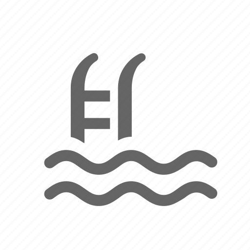 ladder, pool, stairs, swimming, water, waterpool icon
