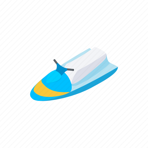 boat, boating, isometric, jet, scooter, speed, water icon